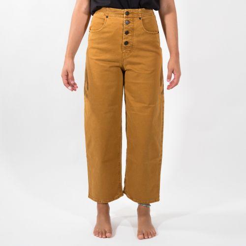 Pantaloni Donna Giallo D21P78T2101