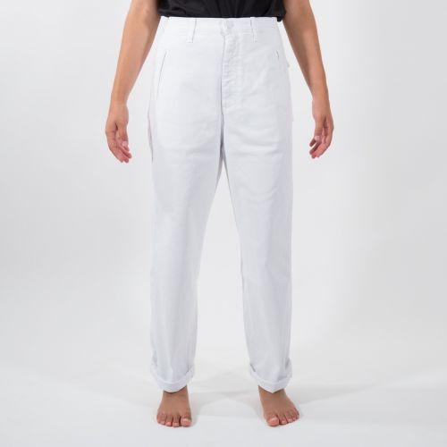 Pantaloni Donna Bianco D21D77T2120