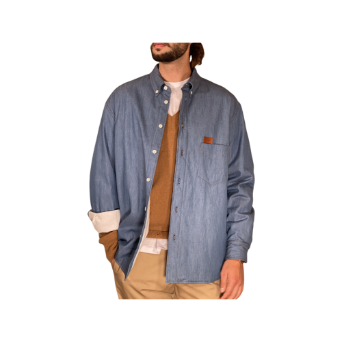 Covert Camicie Uomo Denim Chiaro SM5161