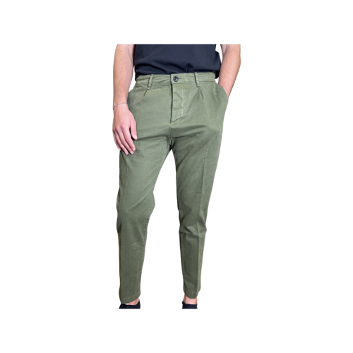 Haikure Pantaloni Uomo Verde Scuro 3184GS192