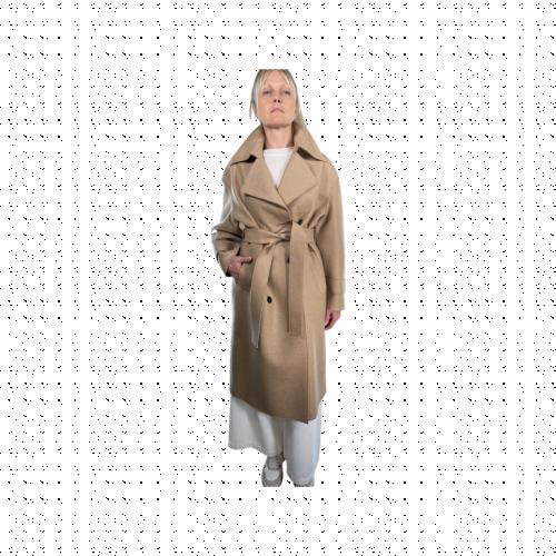 Harris Wharf London Cappotto Donna Cammello A1476MLKY