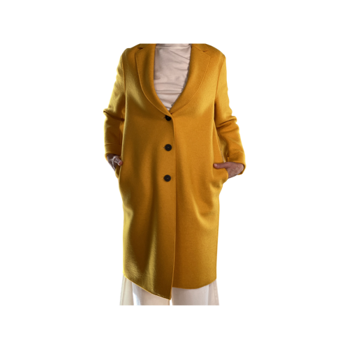 Harris Wharf London Cappotto Donna Giallo A1331MLK