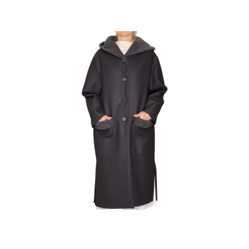 Harris Wharf London Cappotto Donna Nero A1481MLKYW