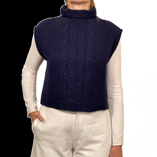 Ballantyne Maglieria Donna Blu T1S075